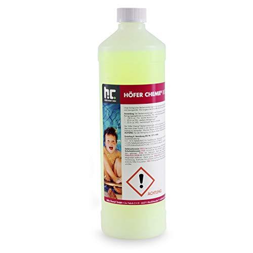 Höfer Chemie - 6 x 1 L Beckenrandreiniger alkalisch für Pool & Schwimmbad - in handlichen 1 L Flaschen