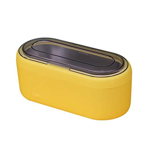 middle Limpiador por ultrasonidos, 46 kHz, baño ultrasónico, depósito interior de acero inoxidable, apagado automático en 3 minutos, gafas de limpieza, herramientas de maquillaje, relojes.