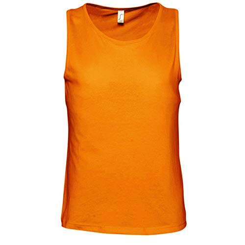 Sols Herren Justin Tank-Top/Top, ärmellos (XL) (Orange)