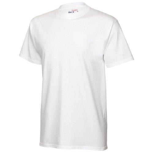 Hanes Herren T-Shirt Tagless Beefy (XLarge) (Weiß)
