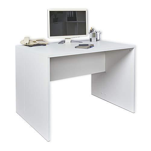 Schreibtisch weiß - Comutertisch - [Funktional und Robust] - PC - Büroschreibtisch - Gaming Tisch - Büro Möbel - ca.: B 110 cm x H 75 cm x T 75 cm   Tisch