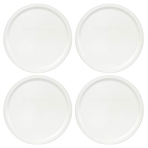 Corningware F-24-PC French White 24oz Plastic Replacement Lid - 4 Pack