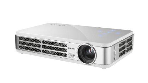 Vivitek Qumi Q5 500 Lumen WXGA HD 720p HDMI 3D-Ready Pocket DLP Projector with 4GB Memory (White)
