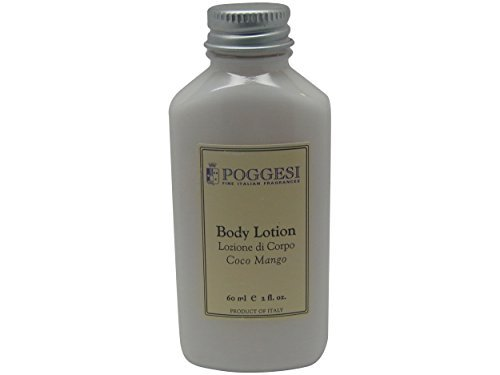 Poggesi Coco Mango Lotion Lot of 12 each 2oz Bottles Total of 24oz by Poggesi