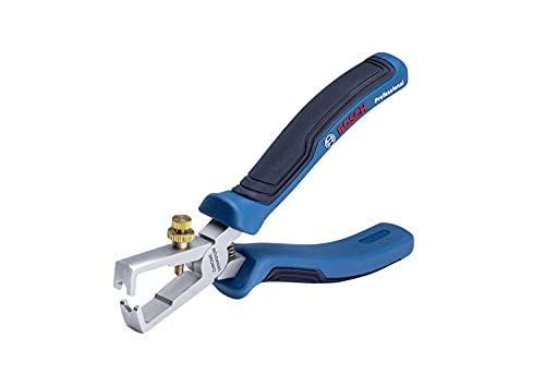Bosch Professional 1600A01V03 Alicates Pelacables (Longitud 160 mm, Cromo-vanadio, Mango Soft Grip), Azul