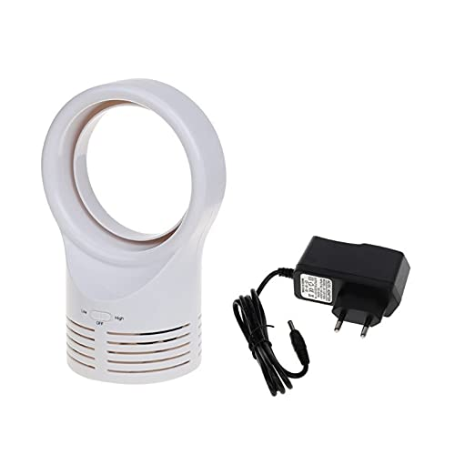 SHENG shengyuan Mini Ventilador portátil sin brocha Ajustable Dos velocidades con Ventiladores de Aire Super silenciosos caben para el Coche del hogar (Color : White)