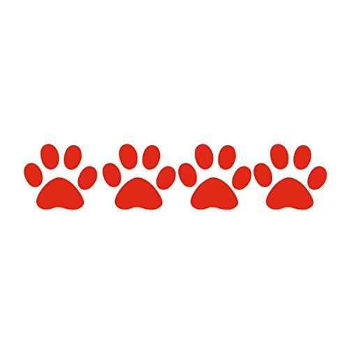Republe Tiertatzen-Karikatur-Entwurfs-Aufkleber-Auto-Körper-Helm Tier-Abdruck-Aufkleber Auto Abziehbild-Dekoration, Rot