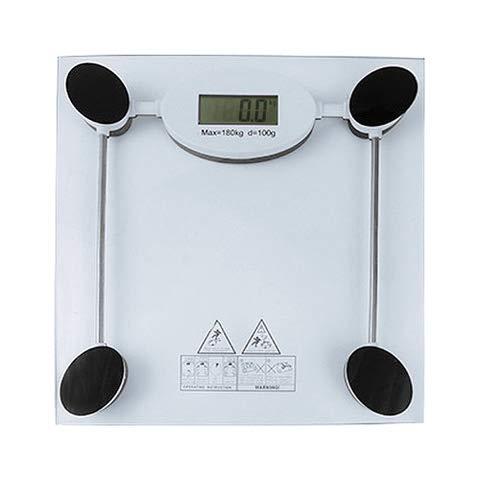 Báscula digital corporal de baño capacidad de 180 kg de peso. Sin necesidad de conectarse a ninguna aplicación, en un paso arriba y el display te proporciona tu peso. ¡Listo!