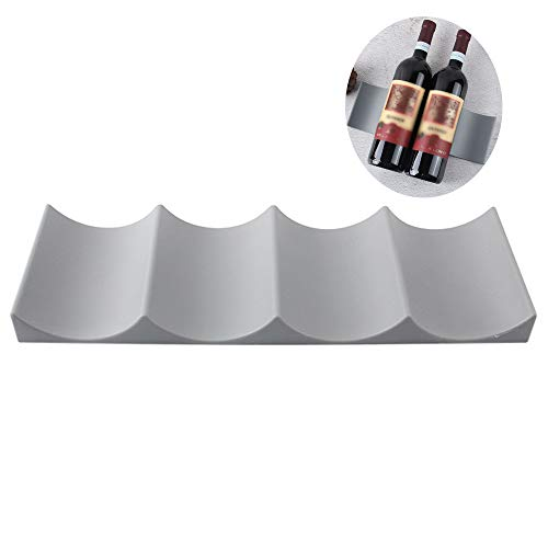 Gurxi Flaschenhalter Weinständer Kunststoff Weinständer Rutschfeste Flaschenregal Rotwein Weinregale Europäischen Stil Weinregal für Küche Arbeitsplatte Speisekammer Kühlschrank (Grau)