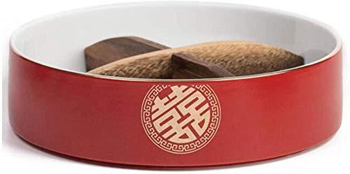 Ruimi-keramisch getrocknete Fruchtbox-Snack-Speicher-Container-Sektion-Tablett mit Deckel 4 Fächer-Partei Servierplatten für Süßigkeiten/Nuss/Süßigkeiten Kekse (Farbe: b)-EIN