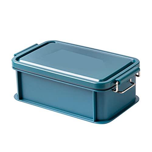 YHYH Bento Box para Adultos Almuerzo Recipientes Separados Bento Box, Cajas de Almuerzo para niños Libre de BPA y de Seguridad alimentaria Cerradura de Acero Inoxidable T Blue