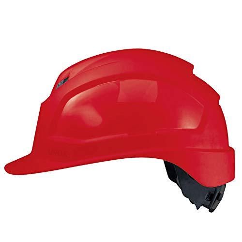 Uvex Pheos IES - Casco de protección laboral, color rojo