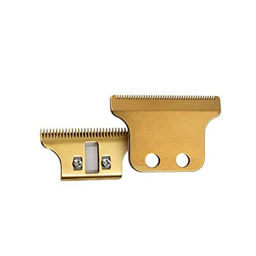 Pro Adjustable T-Wide Trimmer/Clipper Blades for #2215, Double Wide Trimmer Blades Competible with Wahl Clipper Trimmer, 5 Five Star Detailer (Gold)
