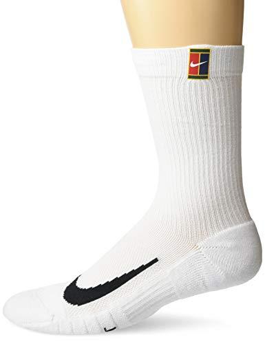 NIKE U NK Multiplier Crew 2PR Cush Socks, White/(White), L Unisex-Adult