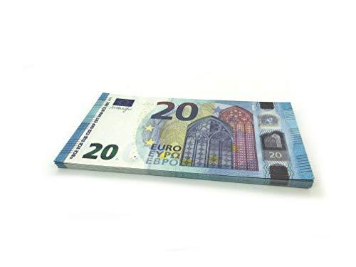Cashbricks® 75 x €20 Euro (New 2015) Dinero de Juguete (reducidos al 125 % del tamaño Original)