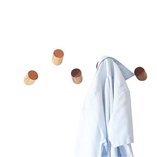 Perchero para abrigos de pared de madera natural montado a la pared, colgadores organizadores únicos y vintage, hechos a mano, para sombreros (2 unidades)