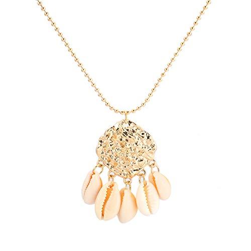 Beach Sea Minimalist Accessoires Übertriebener Muschel-Modeschmuck (Gold)