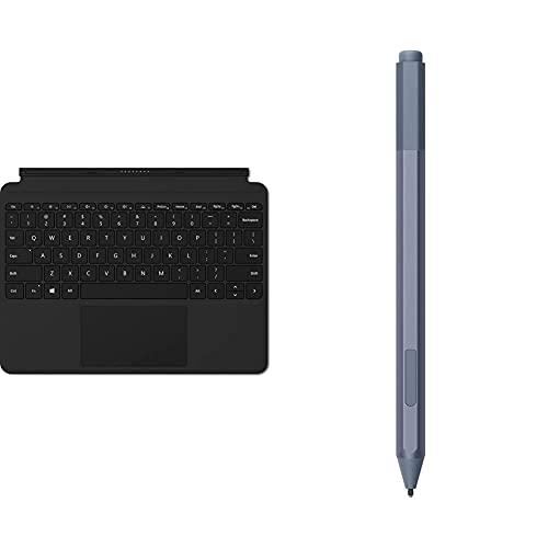 Surface Microsoft Go Cover - Teclado Compatible con Go 1 Y Go 2, Negro (Microfibra) Kcm-00036 + Microsoft Pro Pen - Lápiz Platino