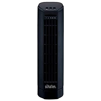 "Schallen 15"" Electric Air Cooling Quiet Oscillation Floor Desk Mini Tower Fan with Timer & Speed Settings (Black)"