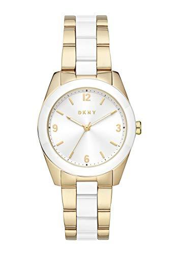 DKNY Damen-Uhren Analog Quarz One Size Gold/Silberfarben 32013259