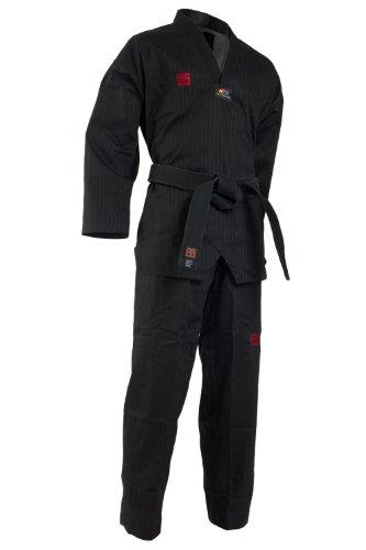 Mooto Corea del Taekwondo extera Uniforme de Verano dobok para Hombre 180 (US4) (5.57-5.90ft o 170-180cm) Negro