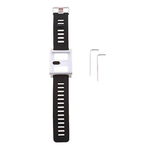 kokiya Cassa Cinturino in Alluminio Cinturino da Polso per iPod Nano 6 Sesto Gen - Argento