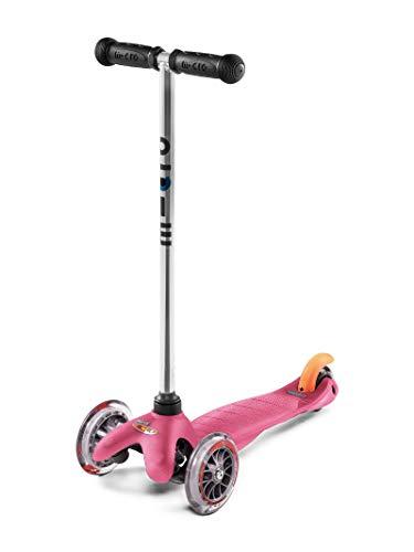 Micro Mobility - Trottinette Mini Trottinette 3 Roues légère et Robuste - Navigation par Transfert de Poids - Apprentissage mobilité et équilibre - Couleur Rose - À partir de 3 Ans