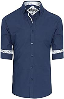Tarocash Men's Liam Textured Shirt Cotton Regular Fit Long Sleeve Sizes XS-5XL for Going Out Smart Occasionwear