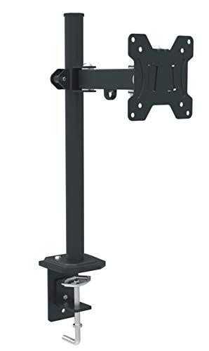 RED EAGLE Pixel Single - Monitor Tischhalterung, höhenverstellbar für Monitore von 13-27 Zoll, Vesa 75x75 und 100x100, Belastbar bis 8 kg, 2 Montagevarianten