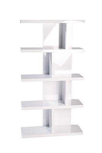 Phönix 126503WE Lloret Asymmetrisches Regal mit 8 Fächern, weiß