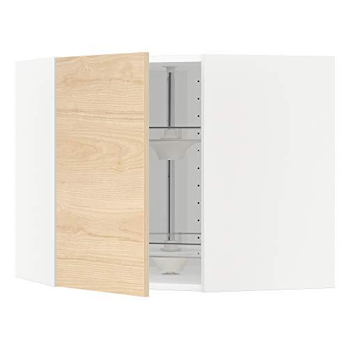 METOD armario esquinero de pared con carrusel 67,5x67,5x60 cm blanco/Askersund