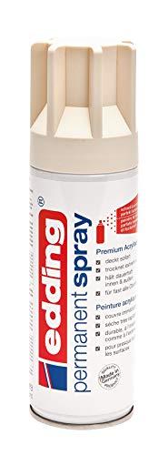 edding Farb-Spray Acryl-Lack permanent spray 5200 seidenmatt 200 ml wetterfest witterungsbeständig Hellelfenbein