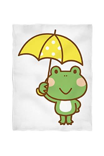 2k books Foto-Fleecedecke klein ca. 100 x 135 cm gesäumt Frosch mit Regenschirm