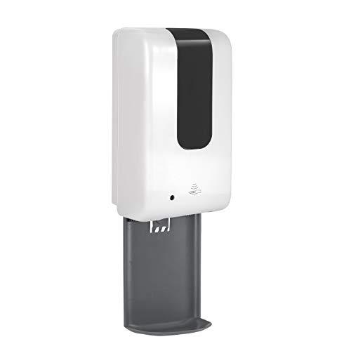 Dispensador automático de jabón de 1200 ml, dispensador de desinfectante de manos, dispensador de jabón sin contacto, dispensador de jabón automático con sensor apto para cocina, baño, inodoro (A)