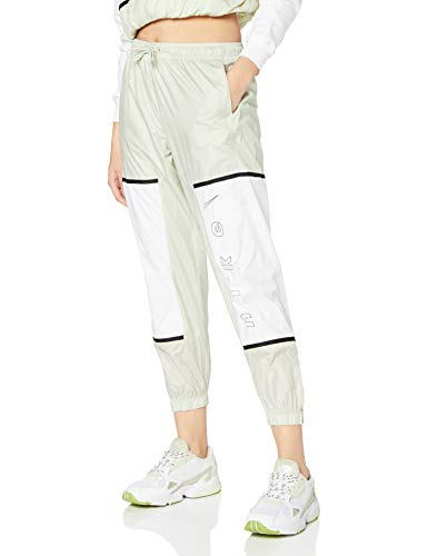 Nike W NSW Pant Wvn Archive RMX, Pantaloni Sportivi Donna, Light Bone/White/Black, XS
