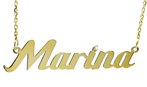 MyOwnName Dein Name als Halskette ~ Namenskette aus 333er Gold