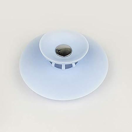 Blanc 10x3.6x1.1cm Delleu Multifonctionnel Bouchon /égouttoir /évier Baignoire Bouchon de vidange protecteurs d/écoulement de Douche Coque