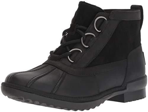 UGG Women's W Heather Boot Fashion, Black, 8 M US