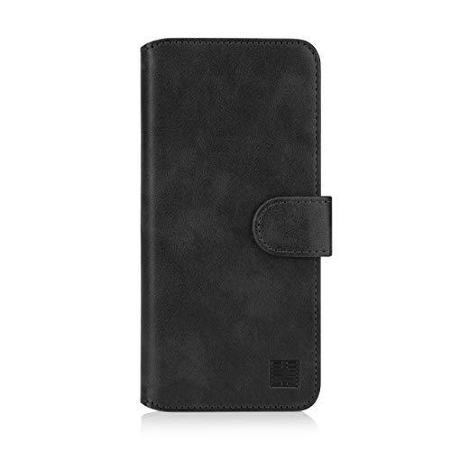 32nd Essential Series 2.0 - PU Leder Mappen Hülle Flip Hülle Cover für Samsung Galaxy XCover 4 und XCover 4S, Ledertasche hüllen mit Magnetverschluss & Kartensteckplatz - Schwarz