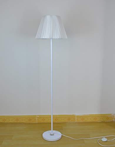 DSENIW QIDOFAN stehleuchte Einfache Boden e27 Lampe bodenlicht lampen for Wohnzimmer bodenlicht luminaria stehende Lampe Innen (Lampshade Color : White)