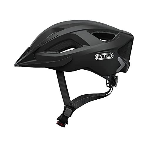 ABUS Aduro 2.0 Stadthelm - Allround-Fahrradhelm in sportivem Design für den Stadtverkehr - für Damen und Herren - 72544 - Schwarz Matt, Größe M