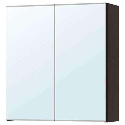 IKEA LILLÅNGEN Spiegelschrank mit 2 Türen schwarzbraun (60x21x64 cm)