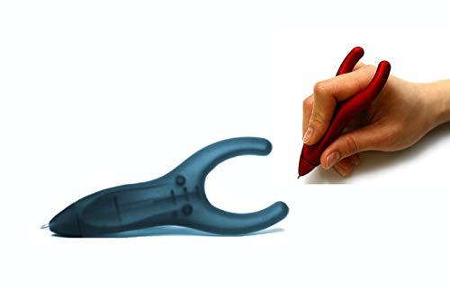 PenAgain Ergosof - Kugelschreiber mit ergonomisch rutschfestem Soft-Oberfläche-Griff (schwarz (gummiert))