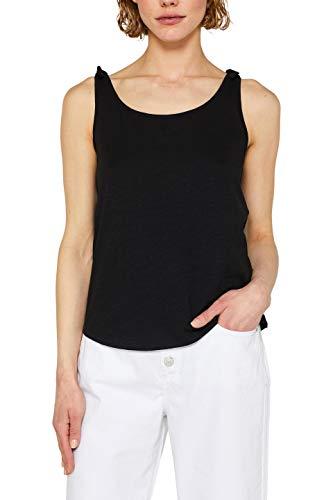 ESPRIT Damen 059EE1K011 T-Shirt, Schwarz (Black 001), Large (Herstellergröße: L)