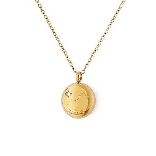 Qings Collar Colgantes 12 Constelaciones Virgo Collar Medall