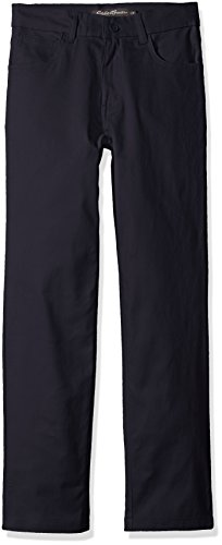 Eddie Bauer Big Boys' Twill Pant (More Styles Available), Navy-VZJH, 8