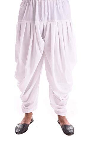 Royal Kurta Herren Salwar Hose, Baumwolle, freie Größe, Weiß Gr. Einheitsgröße, weiß