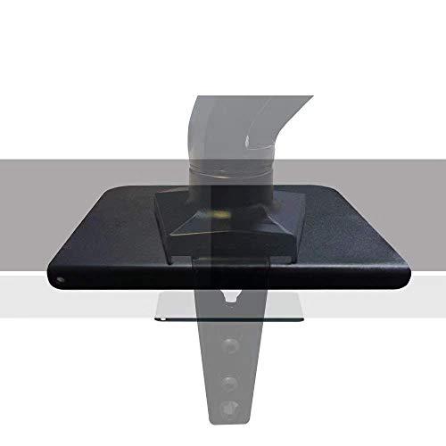 モニターアーム 固定用 ディスプレイアーム 補強プレート 滑り止めシート付き 机保護 (ブラック)