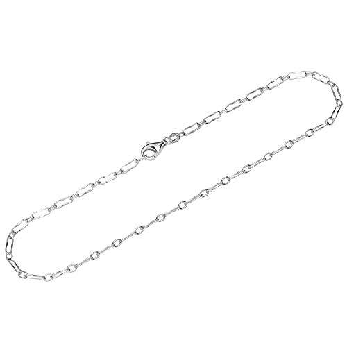 NKlaus Cadena de plata de ley 925, 26 cm, Figaro 12065
