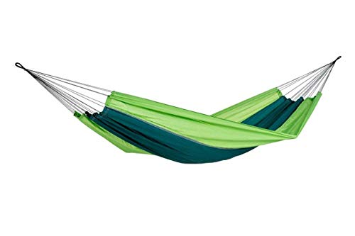Hängematte Silk Traveller Fallschirmseide grün - Belastbar bis 150 Kg